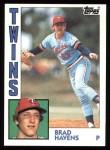 1984 Topps #509  Brad Havens  Front Thumbnail