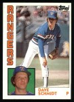 1984 Topps #584  Dave Schmidt  Front Thumbnail
