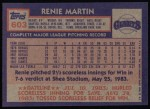 1984 Topps #603  Rennie Martin  Back Thumbnail