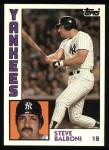 1984 Topps #782  Steve Balboni  Front Thumbnail