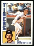 1984 Topps #14  Tom Brookens  Front Thumbnail