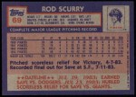 1984 Topps #69  Rod Scurry  Back Thumbnail