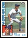 1984 Topps #88  Rob Picciolo  Front Thumbnail