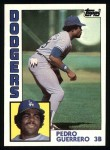1984 Topps #90  Pedro Guerrero  Front Thumbnail