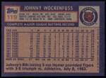 1984 Topps #119  John Wockenfuss  Back Thumbnail
