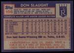 1984 Topps #196  Don Slaught  Back Thumbnail