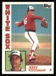 1984 Topps #311  Jerry Koosman  Front Thumbnail