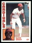 1984 Topps #362  David Green  Front Thumbnail