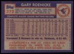 1984 Topps #372  Gary Roenicke  Back Thumbnail