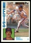 1984 Topps #549  Walt Terrell  Front Thumbnail