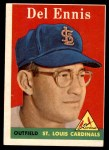 1958 Topps #60 WN Del Ennis  Front Thumbnail