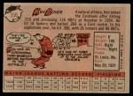 1958 Topps #350  Ken Boyer  Back Thumbnail