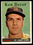 1958 Topps #350  Ken Boyer  Front Thumbnail
