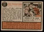 1962 Topps #247  Joe Pignatano  Back Thumbnail