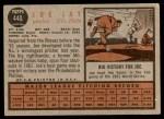 1962 Topps #440  Joey Jay  Back Thumbnail