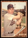 1962 Topps #208  Billy Martin  Front Thumbnail