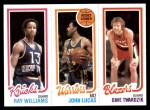 1980 Topps   -  Ray Williams / John Lucas / Dave Twardzik 173 / 94 / 202 Front Thumbnail