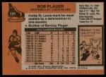 1975 Topps #131  Bob Plager  Back Thumbnail