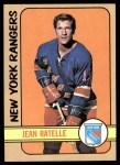 1972 Topps #50  Jean Ratelle  Front Thumbnail