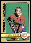 1972 Topps #25  Jacques Lemaire  Front Thumbnail