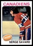 1975 Topps #144  Serge Savard   Front Thumbnail