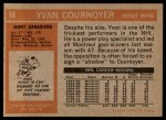 1972 Topps #10  Yvan Cournoyer  Back Thumbnail