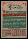 1973 Topps #183  Louie Dampier  Back Thumbnail