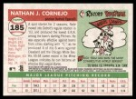 2004 Topps Heritage #185  Nate Cornejo  Back Thumbnail