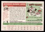 2004 Topps Heritage #139  Rodrigo Lopez  Back Thumbnail