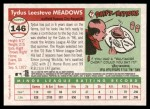 2004 Topps Heritage #146  Tydus Meadows  Back Thumbnail