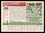 2004 Topps Heritage #195  Tom Gordon  Back Thumbnail