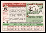 2004 Topps Heritage #96  David Wells  Back Thumbnail