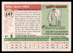 2004 Topps Heritage #147  Toby Hall  Back Thumbnail
