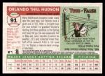 2004 Topps Heritage #91  Orlando Hudson  Back Thumbnail