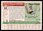 2004 Topps Heritage #44  Jimmy Haynes  Back Thumbnail