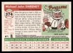 2004 Topps Heritage #374  Mike Sweeney  Back Thumbnail