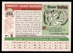 2004 Topps Heritage #251  Tim Hudson  Back Thumbnail
