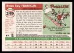 2004 Topps Heritage #249  Ryan Franklin  Back Thumbnail