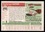 2004 Topps Heritage #292  Travis Hafner  Back Thumbnail