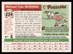 2004 Topps Heritage #224  Mike Mussina  Back Thumbnail
