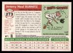 2004 Topps Heritage #273  Jeromy Burnitz  Back Thumbnail