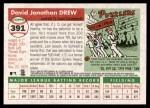 2004 Topps Heritage #391  J.D. Drew  Back Thumbnail