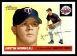 2004 Topps Heritage #362  Justin Morneau  Front Thumbnail