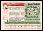 2004 Topps Heritage #294  Chad Billingsley  Back Thumbnail