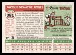 2004 Topps Heritage #381  Jacque Jones  Back Thumbnail