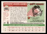 2004 Topps Heritage #351  Andy Ashby  Back Thumbnail