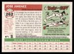 2004 Topps Heritage #262  Jose Jimenez  Back Thumbnail