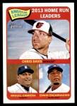2014 Topps Heritage #3   -  Edwin Encarnacion / Miguel Cabrera / Chris Davis AL HR Leaders Front Thumbnail