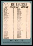 2014 Topps Heritage #5   -  Robinson Cano / Adam Jones / Miguel Cabrera / Chris Davis AL RBI Leaders Back Thumbnail