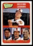 2014 Topps Heritage #5   -  Robinson Cano / Adam Jones / Miguel Cabrera / Chris Davis AL RBI Leaders Front Thumbnail